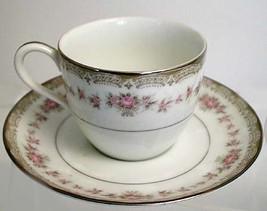 5 Nippon Toki Kaisha 1950s Demitase Floral Teacups with Saucers - $85.00