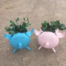 Propane tank pig Planter metal art pig planter made form recycled propan... - $50.00