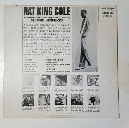 Nat King Cole Ramblin' Rose LP 1962 Mono Capitol T 1793 Vinyl Record
