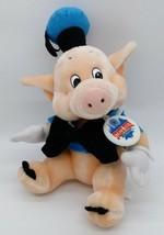 Vintage Disneyland Fiddler Pig Plush State Fair Tag Disney Three Little Pigs  - $34.64