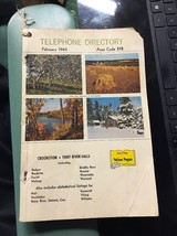 Crookston Thief River Falls Area telephone PHONE BOOK 1965 ADVERTISING G... - $49.99