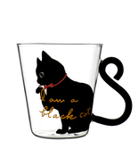 Hand Grip Heat-Resistant Cute Creative Cat Kitty Glass Mug Cup Gift 400-... - $17.78 CAD