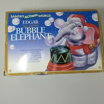 Vintage Edgar Bubble Elephant Ornament New Kurt Adler Santa's Action World - $59.35
