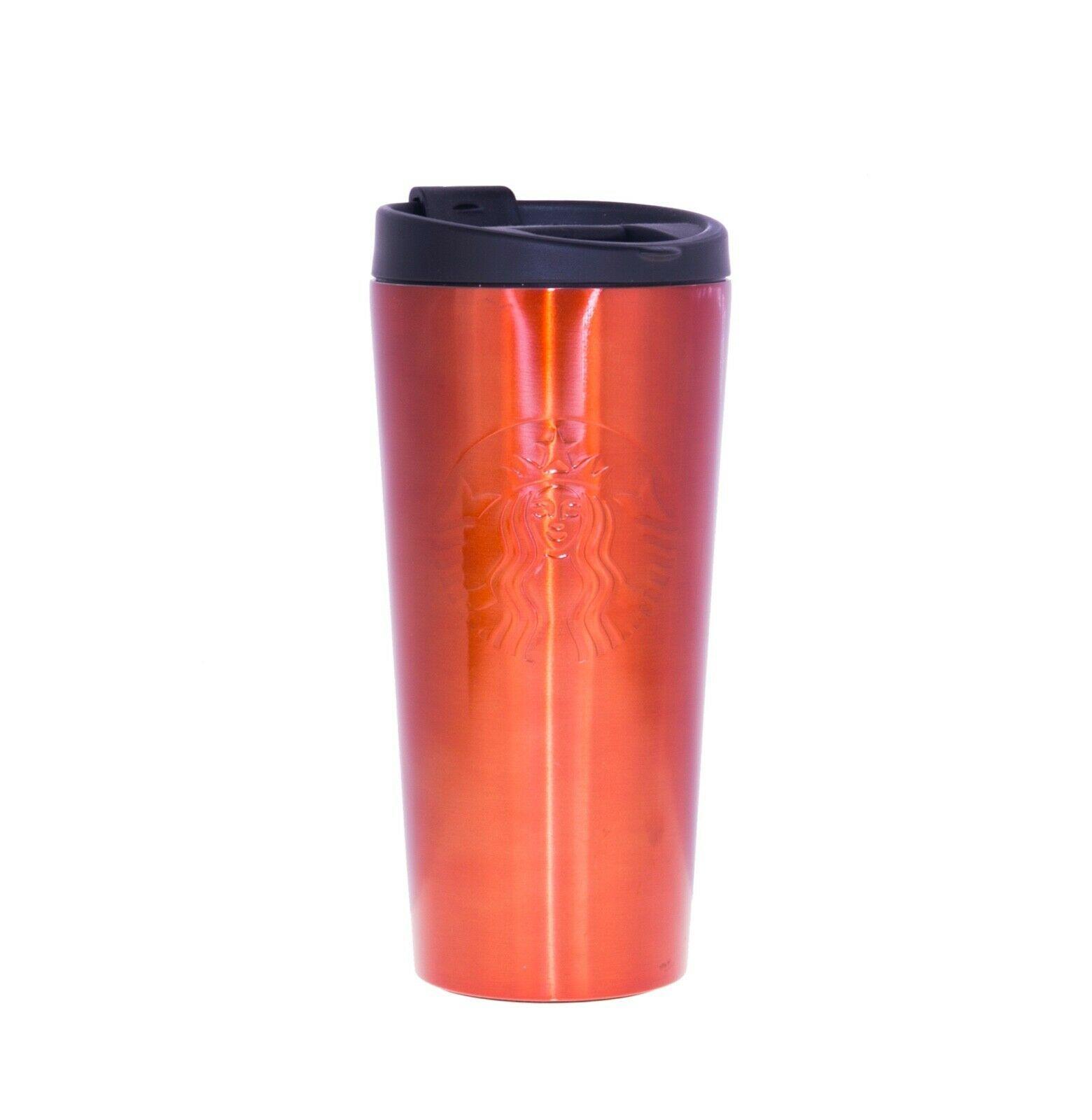 Starbucks Mirror Red Shine Stainless Steel Tumbler 16 OZ Phinney Embossed Siren - $55.43