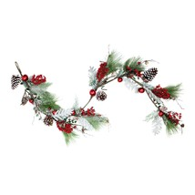 """Northlight 70"""" Bells Berry Pine Cone Frost Frocked Artificial Christmas ... - $48.25"""