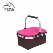 Portable Insulated Folding Picnic Basket Waterproof Fresh Keeping Oxford... - $33.99