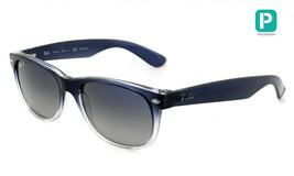 RAY-BAN New Wayfarer RB2132 822/78 Blue/Clear Grad w/blue/Grey Gradnt Po... - $411.49