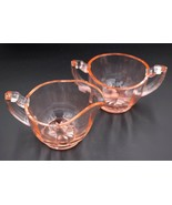 Vintage Bartlett-Collins Pink Depression Glass Paneled #87 Creamer & Sug... - $34.64