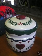 Great Ceramic Porcelain COUNTRY  BISCUIT JAR - $14.44