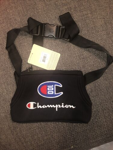 Primary image for NEW UNISEX CHAMPION CH1033-001 PRIME CHENILLE WAIST BAG / FANNY PACK BLACK