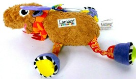 Lamaze Mortimer Moose Baby Activity Plush Toy Teether Rings Squeaker - $17.51