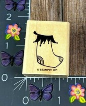 Stampin' Up! Sock Stocking Rubber Stamp Sparkly and Bright Wood Mount #K115 - $2.48