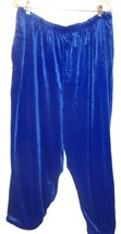 Plus Size 2X - Jaclyn Smith Royal Blue Velvet Capri Pants w/Rolled Bottoms - $23.75