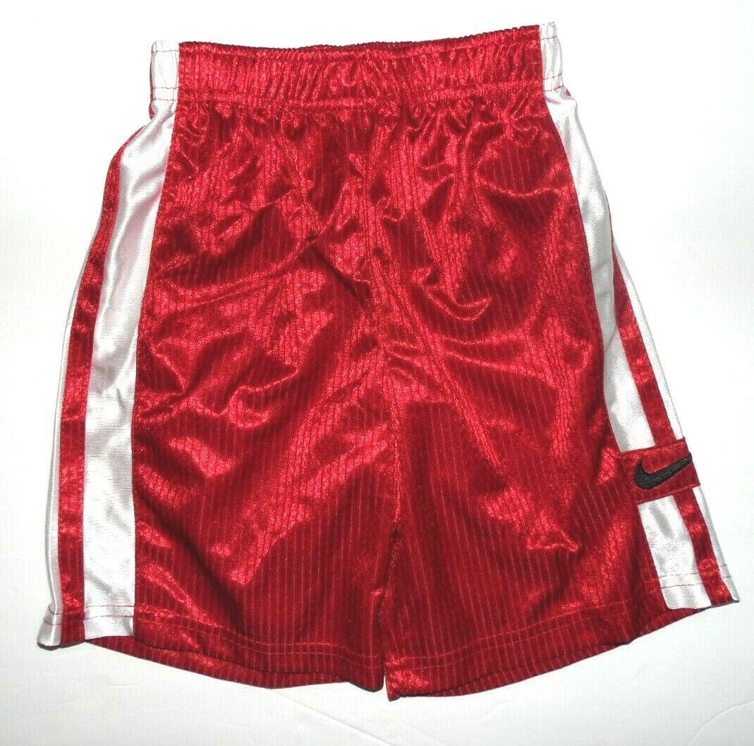Primary image for Nike Toddler Boy Shorts Red with White Stripes Size 2T NWT