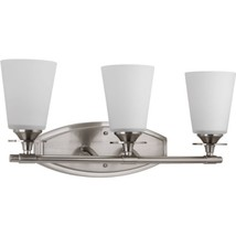 Progress Lighting P3248-09 3-Light Bath Bracket with Etched/Painted Whit... - $180.00
