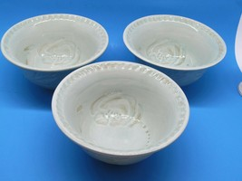"Fitz And Floyd Toulouse Green 7 1/8"" Soup-Cereal Bowls Set Of 3 Bowls EUC - $28.01"