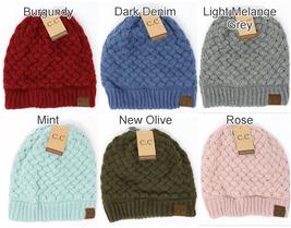 NWT! C.C Beanie Basket Weaved Ribbed Knit Hat Cap