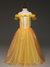 Kids Beauty and beast cosplay Halloween carnival costume Belle princess ... - $19.99