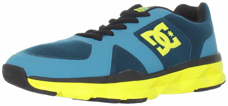 DC Shoes Uomo 'S Unilite Elastico Sportivo Blu Giallo Corsa Scarpe Sportive Nib