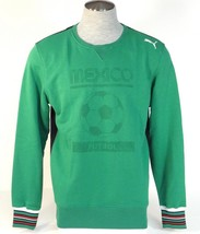 Puma Mexico Futbol Green Tounament Mexico Crew Neck Sweatshirt Football Mens NWT - $63.74