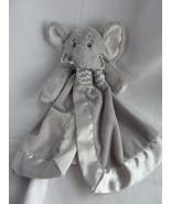 Bearington Baby Elephant Lovey Security Blanket Gray Satin - $19.55