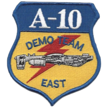 """4"""" Air Forces A-10 Demo Team East Embroidered Patch - $23.74"""