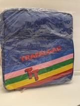 Vintage 80's Trafalgar TT Travel Rainbow Messenger Flight Tote Overnight... - $17.60