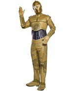 C-3PO Star Wars Classic Gold Droid Robot Fancy Dress Up Halloween Adult ... - $78.48