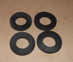 "Camlock Kamlok Gasket Seals 2"" OD x 1"" ID  x 1/4"" 4ea Rubber Washers USA... - $7.49"