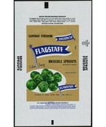 Vintage wrapper FLAGSTAFF BRUSSELS SPROUTS New York NY new old stock n-mint - $6.99