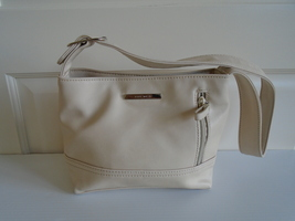 Small Off White Faux Leather Nine West Purse - Very good condition. Ship Fast - $12.99