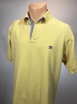 Vtg Tommy Hilfiger M Polo Mens Shirt Size Medium Yellow  - $18.69