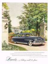 Vintage 1950 Magazine Ad Lincoln Not Only Most Distinctive But Most Fashionable - $5.93