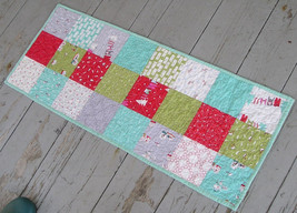 Handmade Quilted Christmas Table Runner 13 x 33 Inches w/ Reversible Sides - $45.54