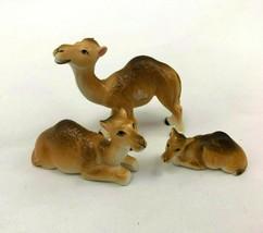 Vintage Hi Style by Bridge Bone China Miniature Camel Family Figurines - $31.67