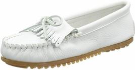 Minnetonka Women's Deerskin Soft-T Moccasin,White Deerskin, 11 M US/ 9 U... - $74.95