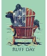 Ruff Day Dog Summer Beach Lake House Funny Humor Wall Bar Decor Metal Ti... - £11.45 GBP