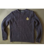 Lauren Ralph Lauren Cable Knit Sweater PS Petite S Navy Blue Crown Ancho... - $29.69