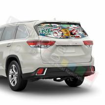 Sticker Bomb Skin Window See Thru Stickers Perforated for Toyota Highlander  - $59.80