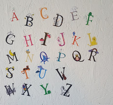 Letters with Characters Wall Decals /Classroom Wall /Teachers Wall /Nurs... - $12.00+