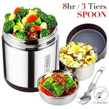 Vacuum Insulated Lunch Box Food Warmer Leak Proof Container Meal Contain... - $45.19