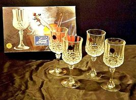 Longchamp Crystal Arques Glasses France 24 PBO Set of 3 LD19-11915 image 6
