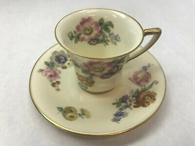 Primary image for ROSENTHAL GARDENIA Made in Bavaria DEMITASSE TEA CUP and SAUCER with Gold Rim