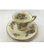 ROSENTHAL GARDENIA Made in Bavaria DEMITASSE TEA CUP and SAUCER with Gol... - $30.28