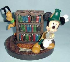Disneyana Mystery Mickey Mouse Private Ear +Pluto 2002 Rotating Bookshel... - $258.00