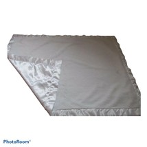 Little Me White Baby Blanket Solid Satin Fleece Faux Fur Lovie Security Crib - $39.59