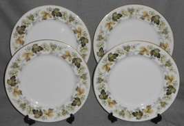 Set (4) Royal Doulton LARCHMONT PATTERN Dinner Plates MADE IN ENGLAND - $39.59