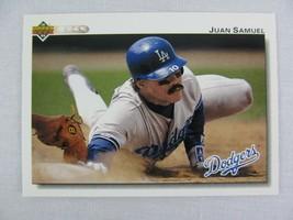 Juan Samuel Los Angeles Dodgers 1992 Upper Deck Baseball Card 195 - $0.98