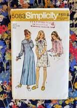 1970s Simplicity 5083  Misses Long Short Nightgown, BedJacket Sz 8-10 uncut - $5.50