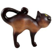 Communidad Winay Ceramic Brown Cat Kitty Kitten Figurine Handmade in Bolivia image 4